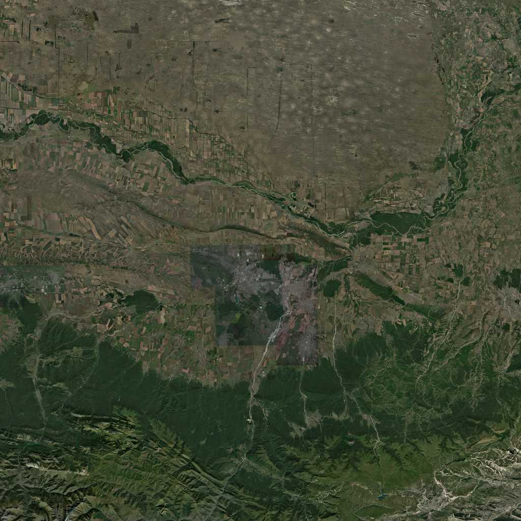 PMC Chechnya Grozny Terrains Satellite Texture