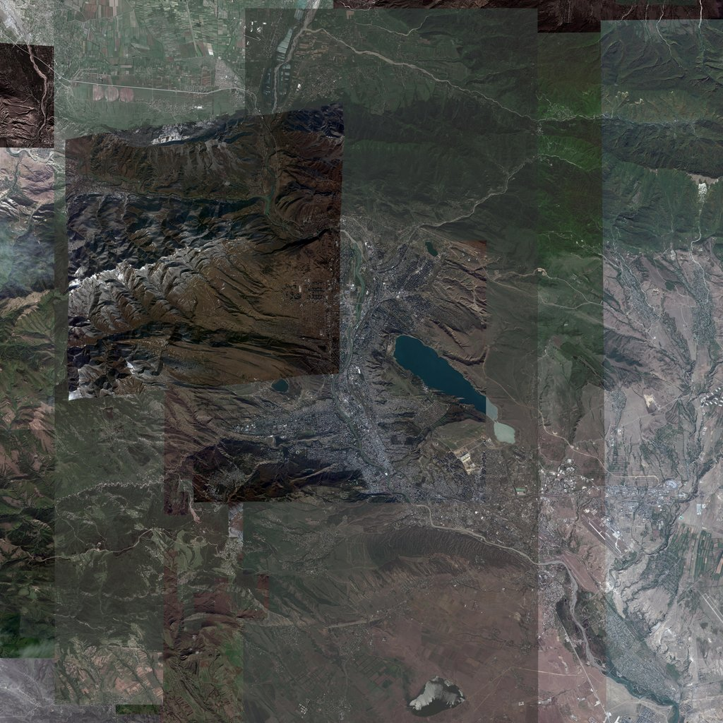 PMC Georgia Tbilisi Terrains Satellite Texture