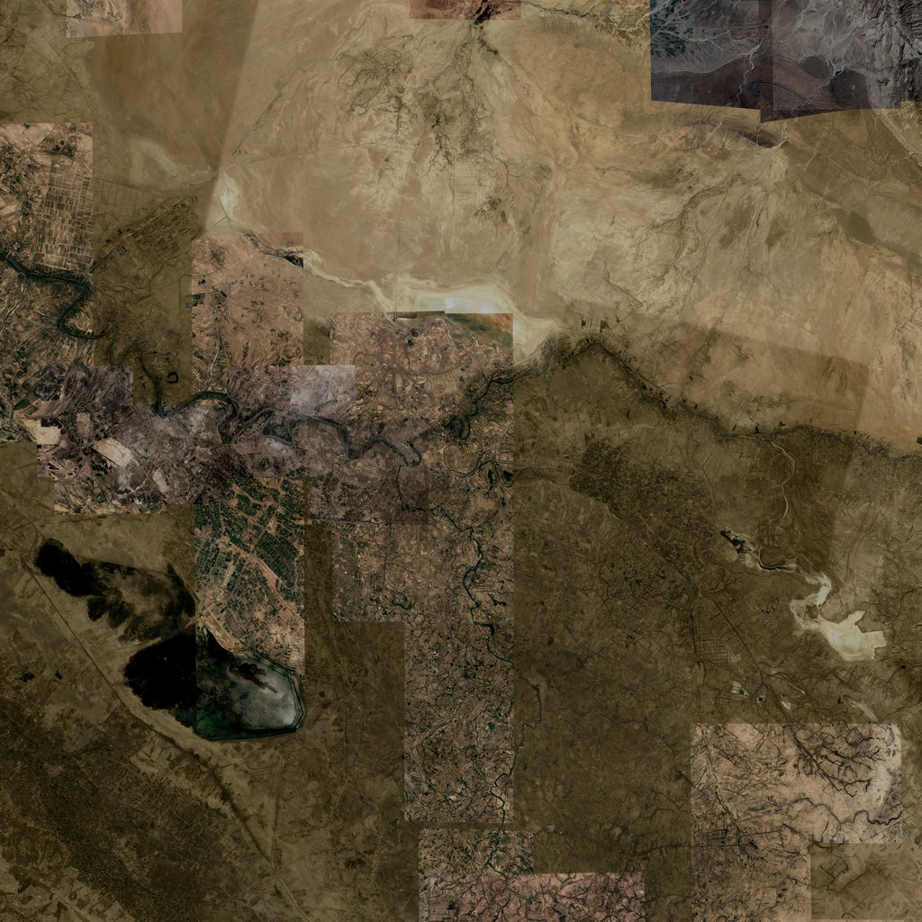 PMC Iraq, Al Kut Terrains Satellite Texture