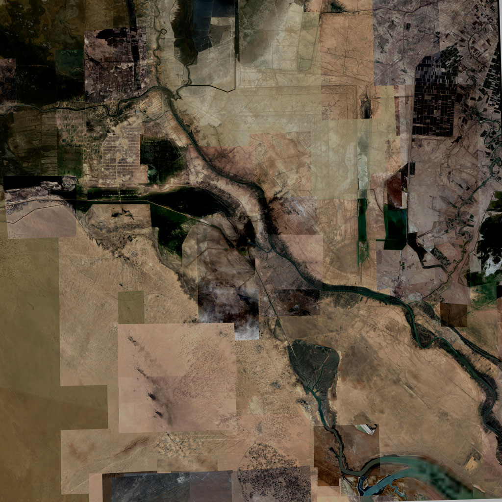 PMC Iraq, Basrah Terrains Satellite Texture