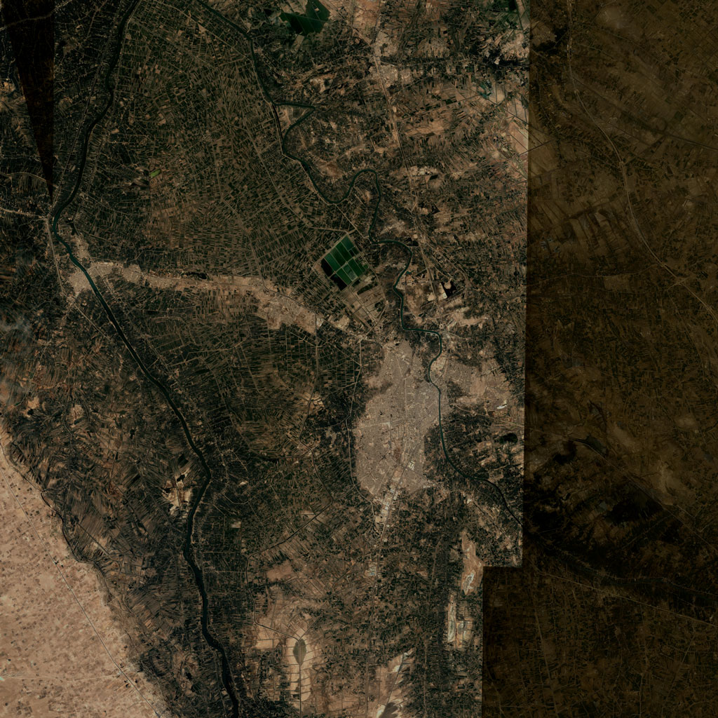 PMC Iraq, Hillah Terrains Satellite Texture