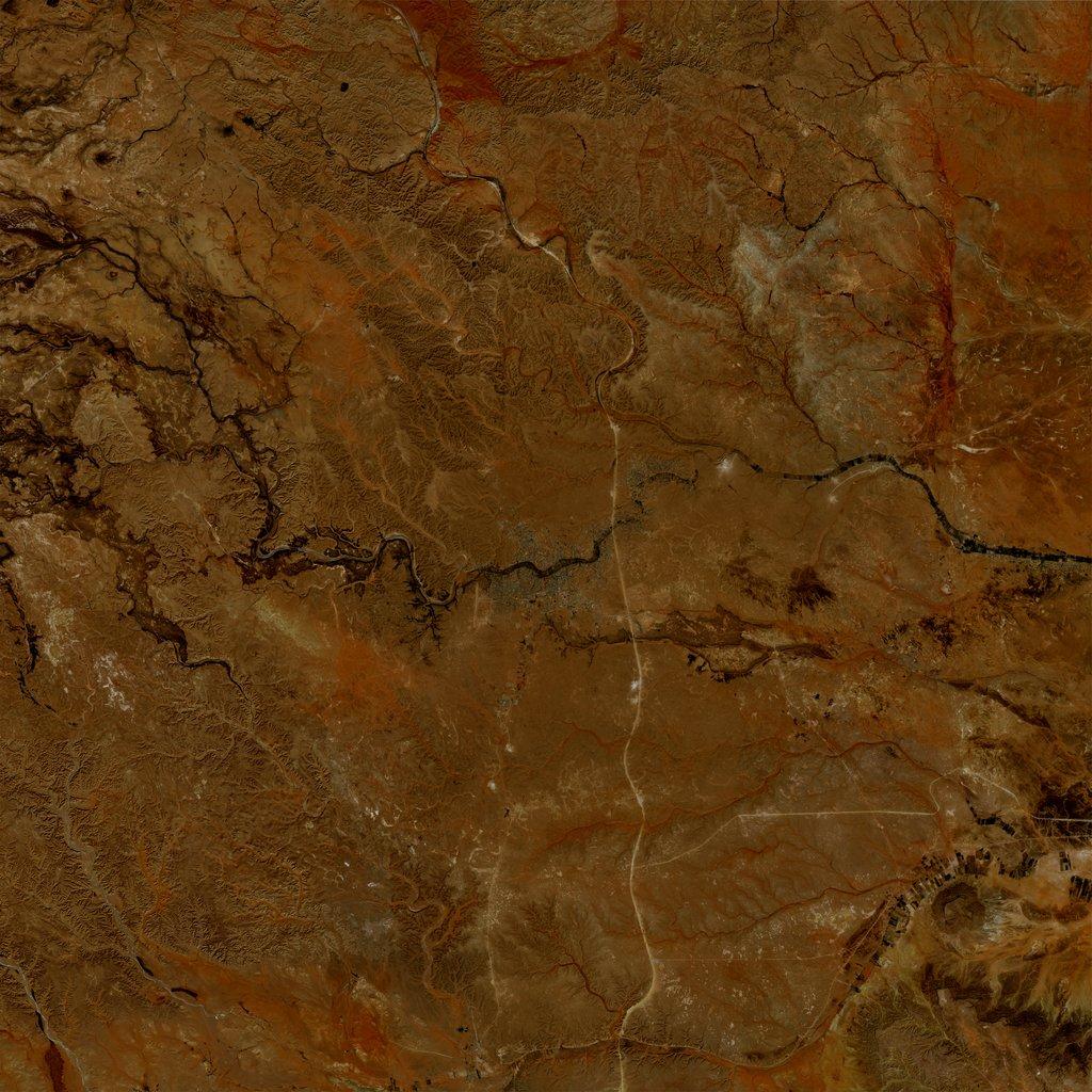 PMC Libya, Bani Walid Terrains Satellite Texture
