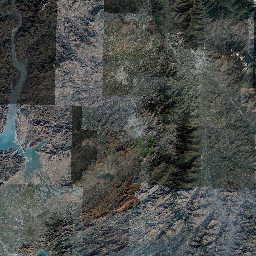 PMC Pakistan, Abbottabad 81km Terrains Satellite Texture