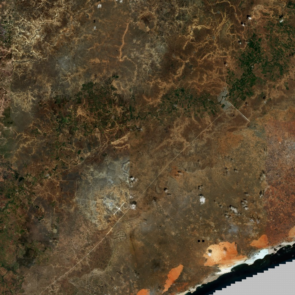 PMC Somalia, Bariire Terrains Satellite Texture