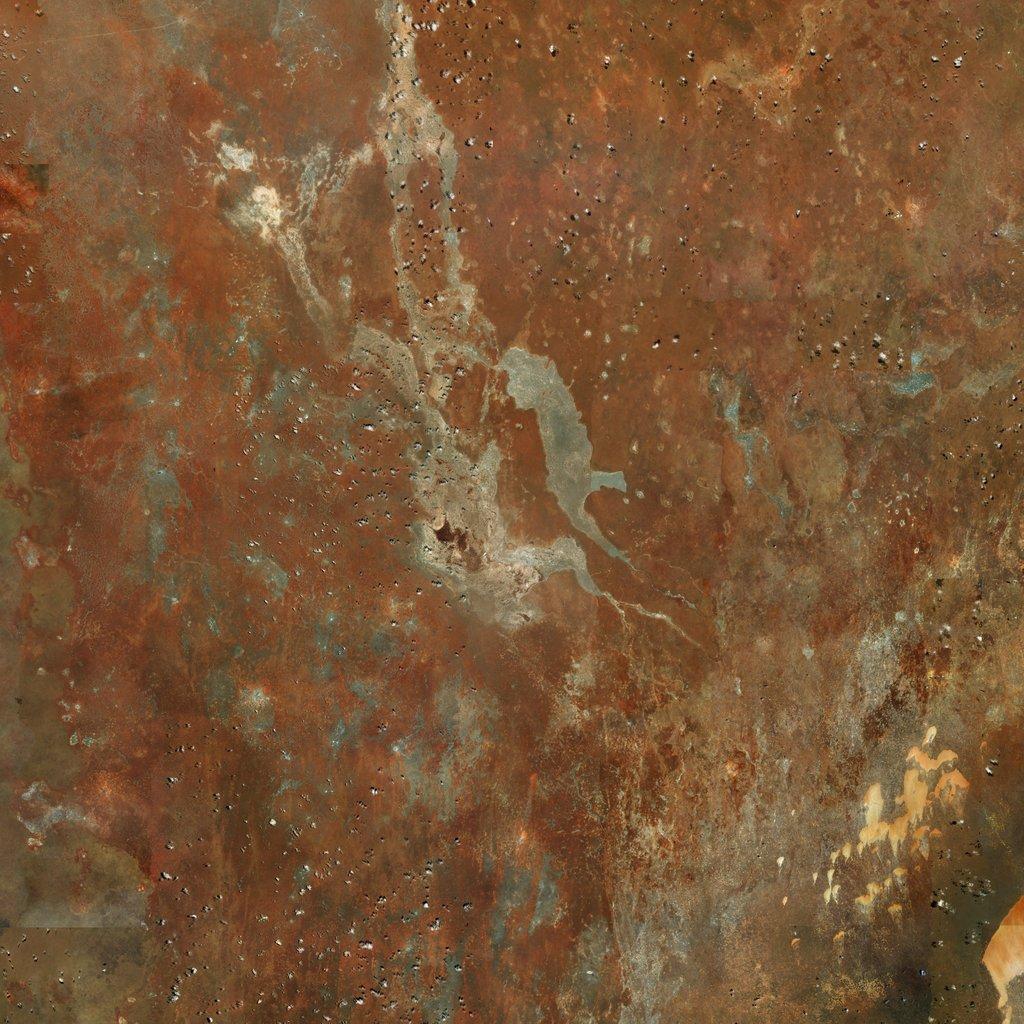 PMC Somalia, El Buur Terrains Satellite Texture