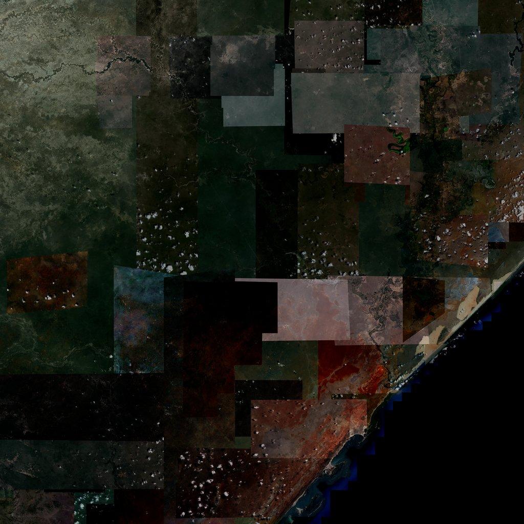 PMC Somalia, Kismaayo Terrains Satellite Texture