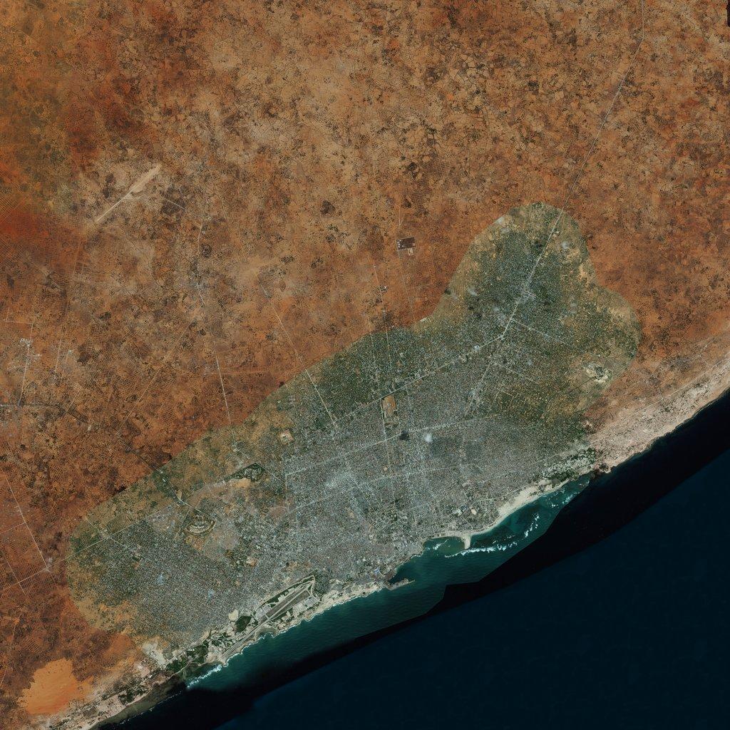 PMC Somalia, Mogadishu Terrains Satellite Texture