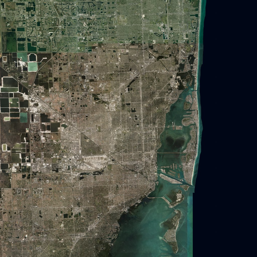 PMC USA, Florida Miami Terrains Satellite Texture